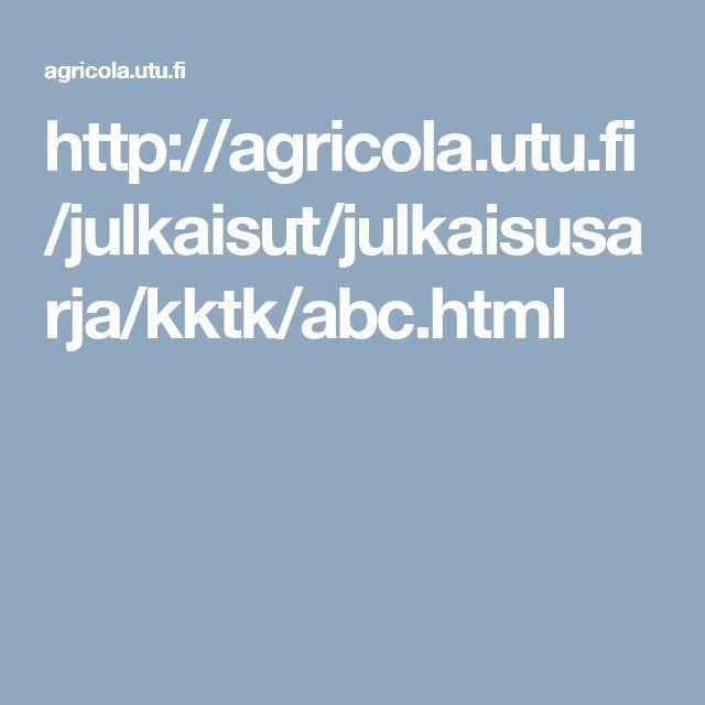 Agricolan ABC-kirjasta katkelmia käytettäväksi esim. uskontotunnilla tai vanhan ja uuden suomen kielen vertailuun. mm. lukusanat ja kymmenen käskyä.