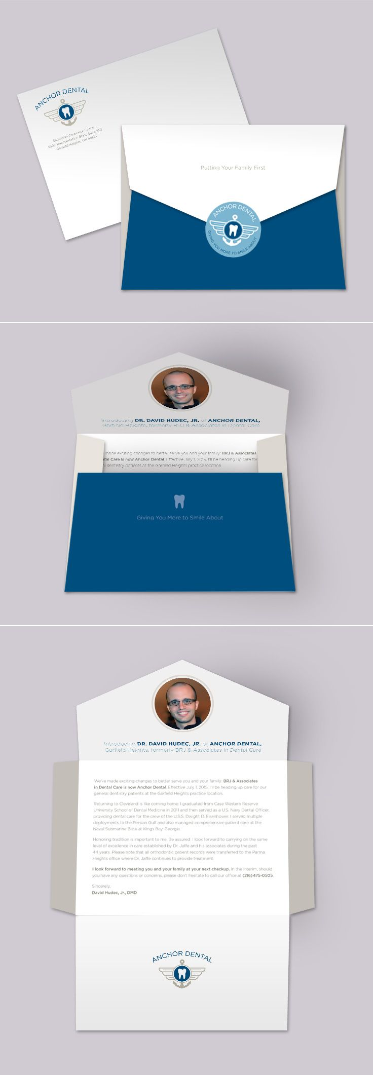 anchor dental direct mail letter design