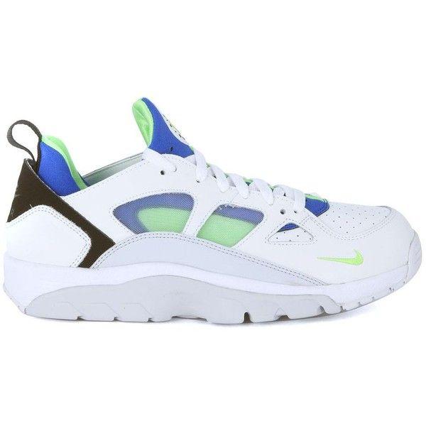 Sneaker Nike Air Trainer Huarache Low In Pelle Vegan E Neoprene... ($115) ❤ liked on Polyvore featuring men's fashion, men's shoes, men's sneakers, bianco, vegan mens shoes, nike mens sneakers, men's low top sneakers, colorful mens shoes and men's low top shoes