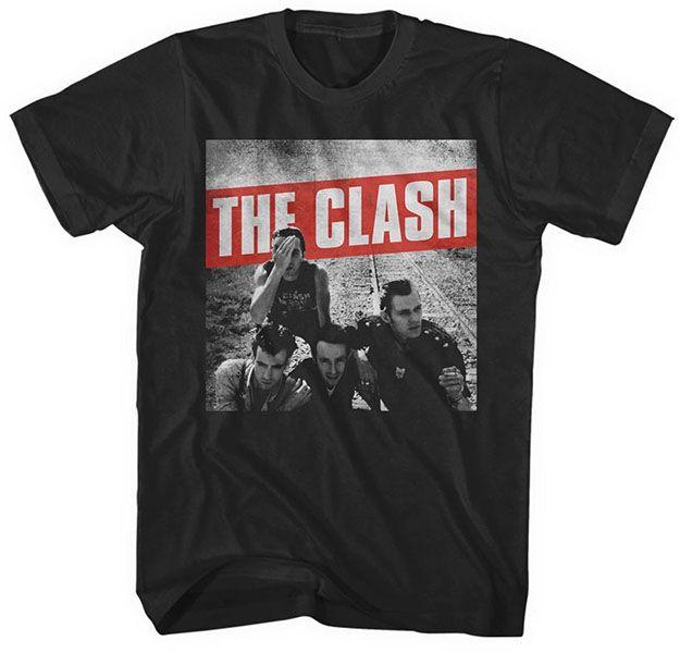 Clash- Combat Rock on a black ringspun cotton shirt (UK Import!)