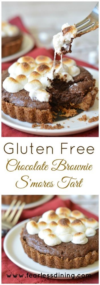 Gluten Free Chocolate Brownie S'mores Tarts | Gluten Free Chocolate ...