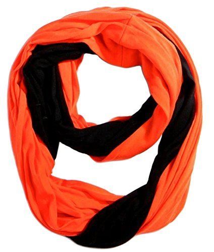 Game Day (College Pro High School Team) Infinity Circle Scarf - Black & Orange. SHOW YOUR SPIRIT: Get fired up and cheer your favorite team on to victory with this black and orange scarf. Whether it's for varsity, high school, college, fantasy or professional, this scarf is perfect for any sporting event. Great for football, basketball, baseball, hockey, tennis, softball, rugby, wrestling, lacrosse, marching band, dance, swim and more! Show your pride as a freshman, sophomore, junior or…