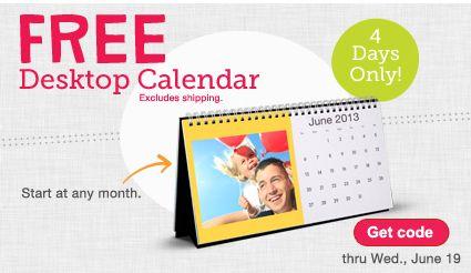 Walgreens Photo Coupon Code: Free Desk Calendar