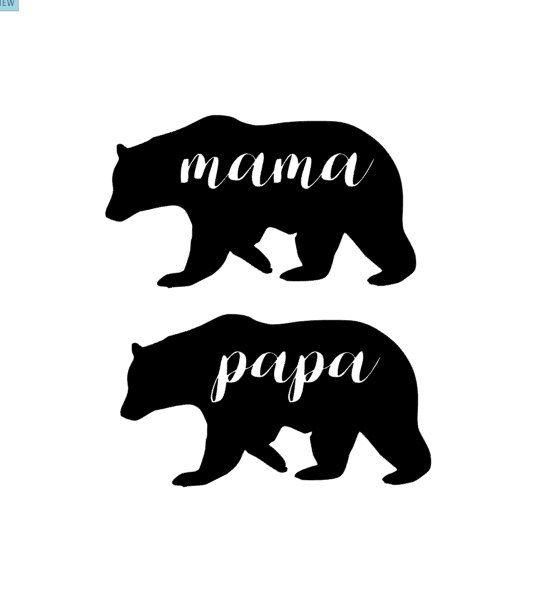 Mama Or Papa Bear Vinyl Decal Yeti Sticker By