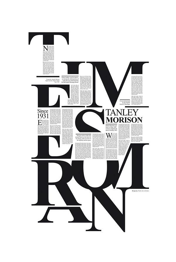 Times New Roman / Pedro Arbeláez // #typography #layout