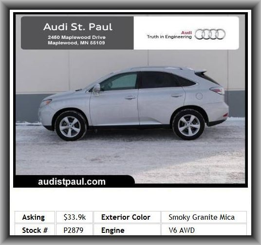 2010 Lexus RX 350 Base SUVRoof Rails, Fuel Type: Premium Unleaded, Front And Rear Suspension Stabilizer Bars, Automatic Front Air Conditioning, Am/Fm/Satellite Radio, Trip Computer, Rear Seats Center Armrest, Gross Vehicle Weight: 5, Tire Pressure Monitoring System, Tires: Prefix: P, Remote Power Door Locks, Wheelbase: 107.9, Overhead Console: Mini With Storage, 4 Door, Tilt And Telescopic Steering Wheel, Independent Rear Suspension, Overall