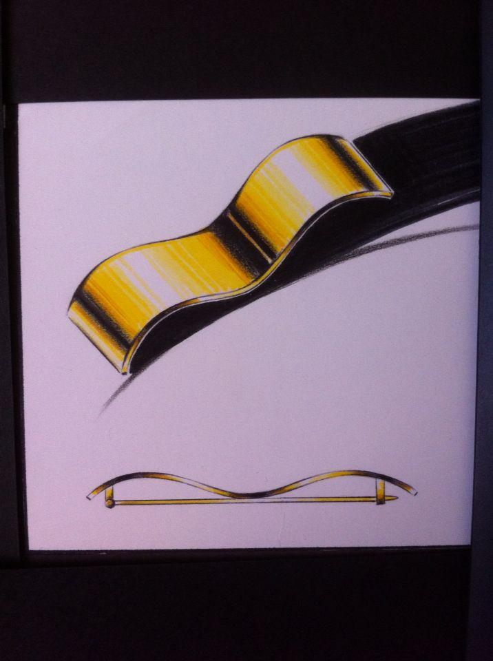 Spilla ONDA  Design Laura Arnofi