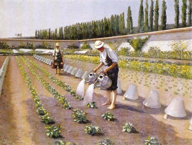 Gustave Caillebotte, Les Jardiniers, 1875-1877, huile sur toile, 90 x 117,  Collection particulière © Brame & Lorenceau Éditions, Paris