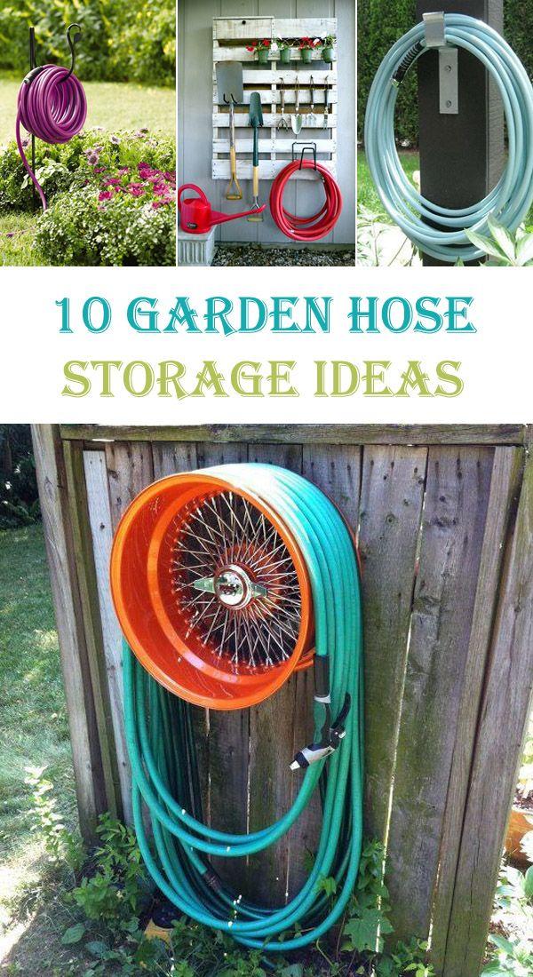 10 Creative DIY Garden Hose Storage Ideas