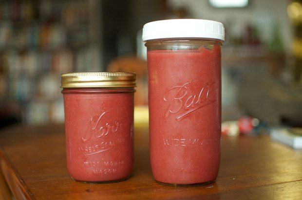 Strawberry-Rhubarb Butter on simplebites.net #canning #preserving #fruitbutter #spring