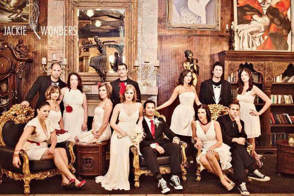 Vanity fair style group photo
