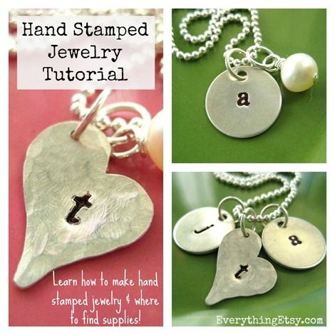 DIY Gift for Her - Hand Stamped Necklace Tutorial and a list of supplies and suppliers!