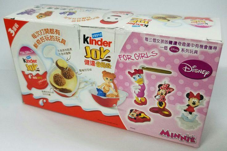 New!!! Minnie kinder JOY chocolate surprise eggs!!!