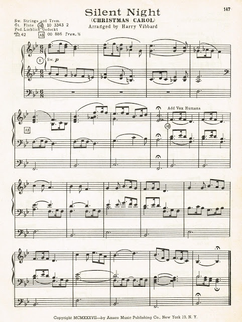 Antique Christmas Sheet Music