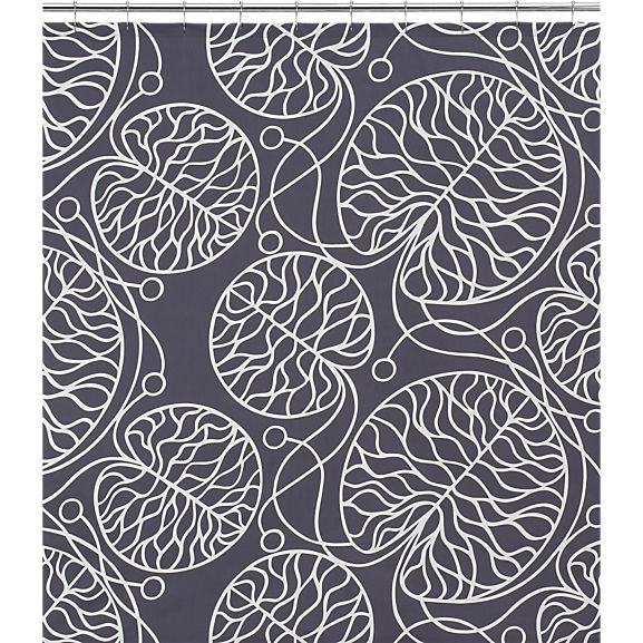 marimekko bottna slate shower curtain in shower curtains rings crate and barrel