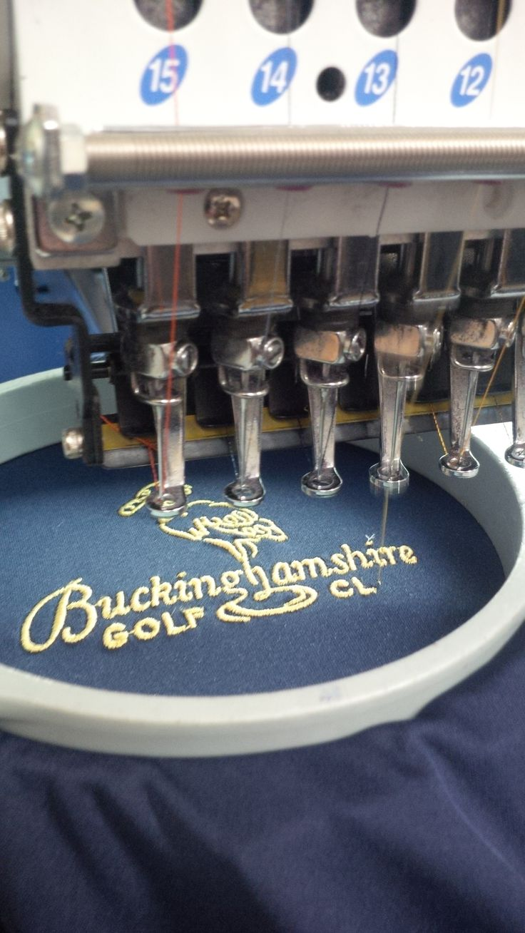 Another example of embroidery for a golf polo shirt. We are able to send visuals for you to show you how your logo or emblem will look and even have the ability to send you a swatch so you can see exactly how your shirt or accessory will be embroidered.