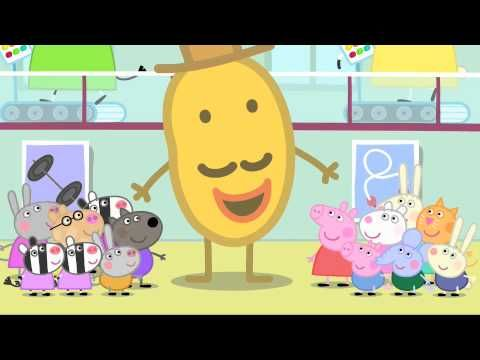 Peppa Pig - Mr Potato Head Comes To Town - COMIDA UNIT - narrate in Spanish!