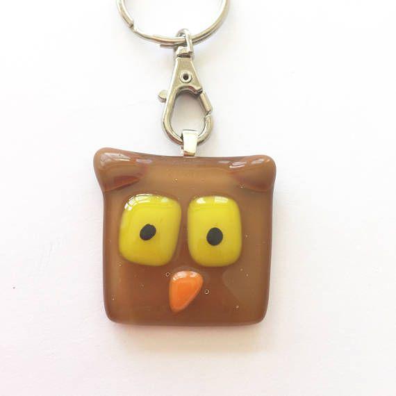 Owl keyring teacher gift owl gift animal key ring wildlife