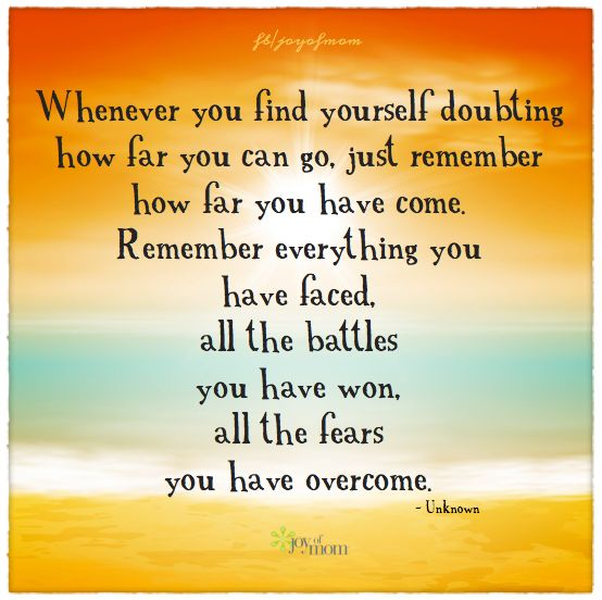 Love Finds You Quote: Whenever You Find Yourself Doubting How Far You Can Go