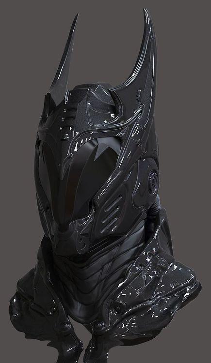 Scifi mask that reminds of Batman