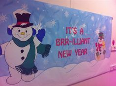 Fun winter and New Year bulletin board idea you can keep up all winter long! Check it out along with more fun winter bulletin boards here: http://www.mpmschoolsupplies.com/ideas/6894/its-a-brr-illiant-new-year-new-years-bulletin-board-idea/