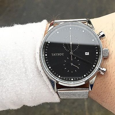 TAYROC Watches Chrono Silver Meshband Men's Luxury Watch Designer Free Shipping*   Jewelry & Watches, Watches, Parts & Accessories, Wristwatches   eBay!