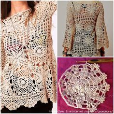Olá meninas gráficos e pap completinho desta bata de crochê maravilhosa ou pode ser usada como túnica também