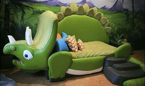 The cutest Dinosaur toddler bed I ever did see