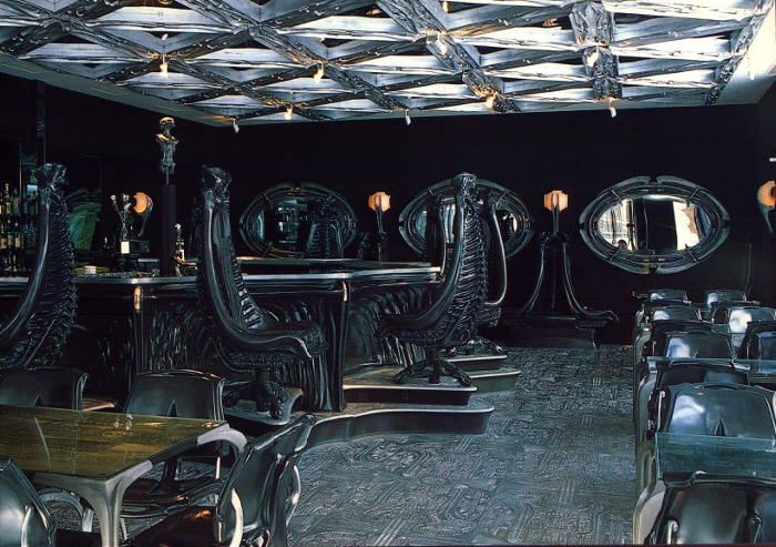Would love to have a drink here. HR Giger Bar.