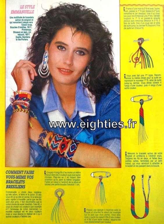Les bracelets brésiliens - Années 80