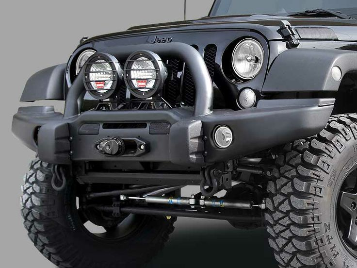 AEV Premium Front Bumper in Textured Black for 07-up Jeep® Wrangler Unlimited, $1269 **Would be a nice finishing touch someday to the side steps & rack already on the Jeep**