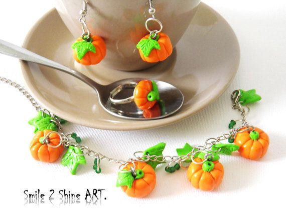 Pumpkin braceletpumpkin ringpumpkin by Smile2ShineArt on Etsy