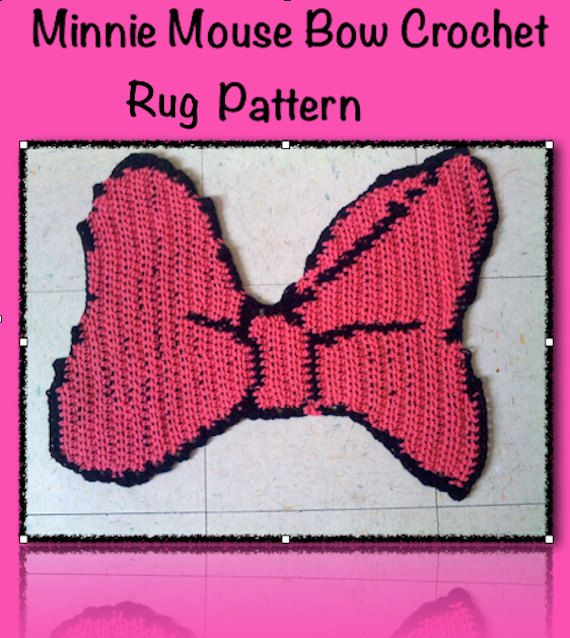 Minnie Mouse Bow Rug PDF Pattern Minnie Mouse By