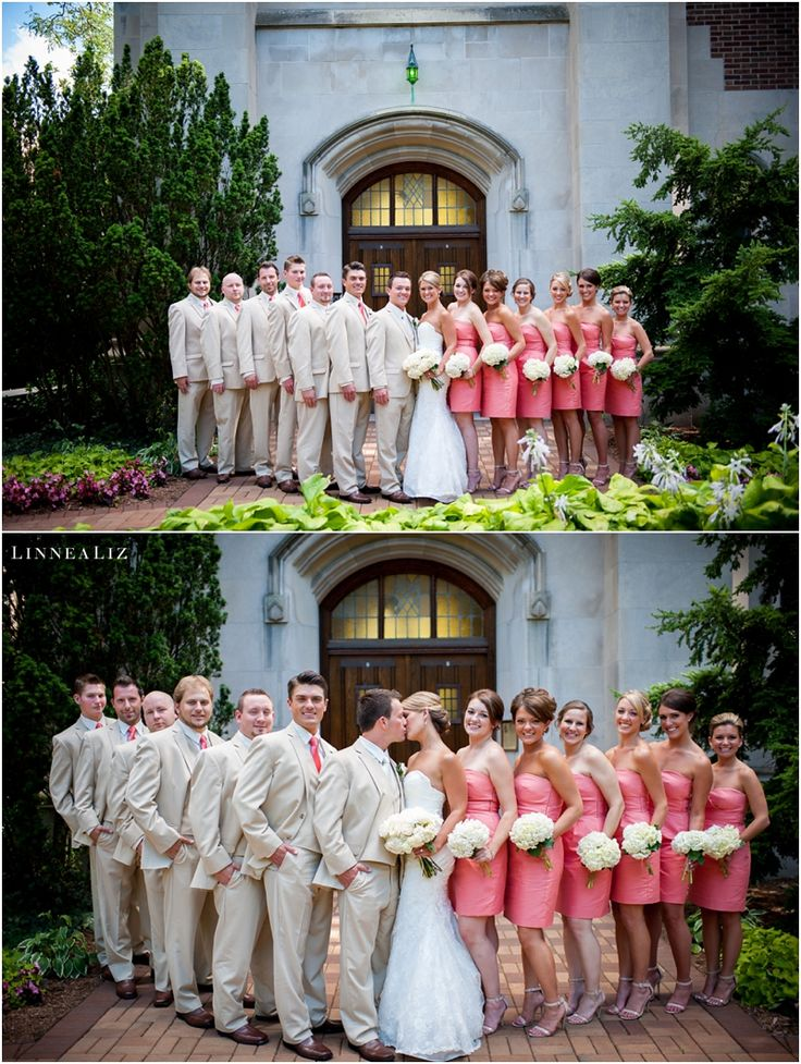 Michigan State University Beaumont Tower bridal party wedding day photos www.LinneaLiz.com