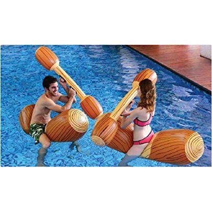 Gonfiabile piscina galleggiante combattimento Set - 4 pezzi: Amazon.it: Giochi e giocattoli