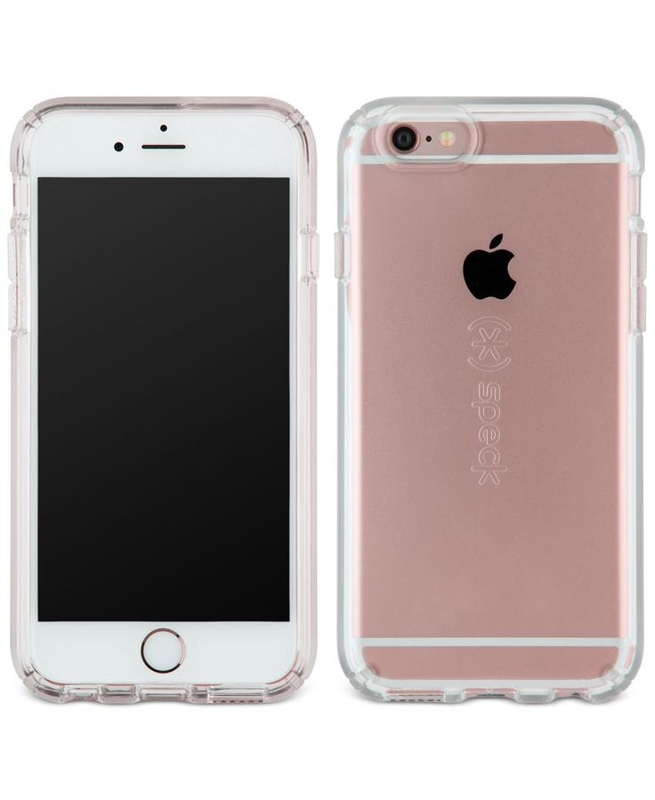 "Speck makes your iPhone 6 safer and more colorful with this clear protective case. | Polyvinyl chloride/polypropylene/thermoplastic elastomer | Clean with cleaning cloth | Imported | Dimensions: 7"" x"