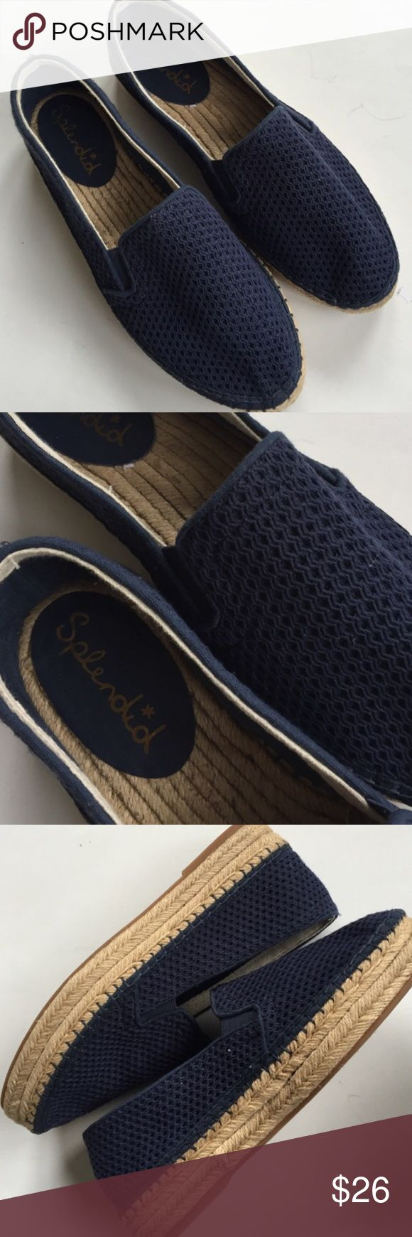 """NWOT Splendid shoes New without tags; Darling blue mesh-like uppers with 1"""" platform sole. Smoke-free/pet-free home. Splendid Shoes"""
