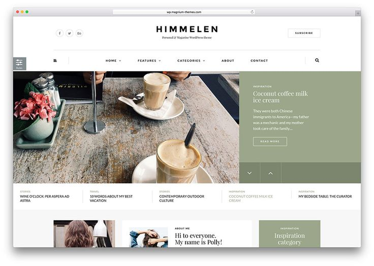 himmelen-simple-blog-wordpress-theme