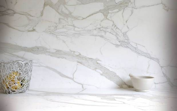 White Marble Benchtop & Splash Back