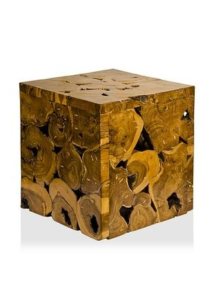 62% OFF Foreign Affairs Recycled Teak Accent Table, Natural