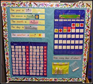kindergarten calendar set up