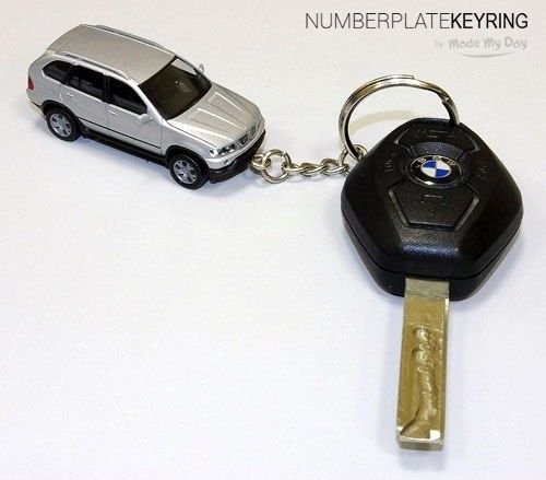 Car Keyring with your car registration number numplatekeyring.co.uk .  A Keyring is made in a style of a state registration number – a perfect present for a car owner. The base of a car keyring is made of metal. We can place any inscriptions, for example car logo, names, telephone numbers on separate sides.  #numplatekeyring #Exclusive #Mercedes #jeweler #Statenumber #Moto #action