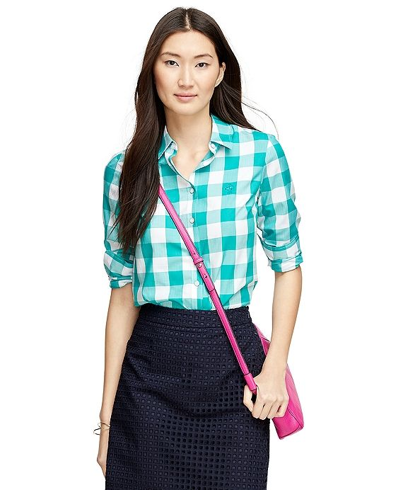 Herringbone Gingham Blouse 9