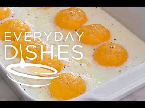 super easy baked eggs to feed a crowd recipe video