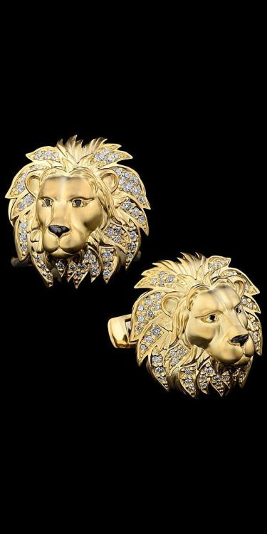 Gold Lion Earrings