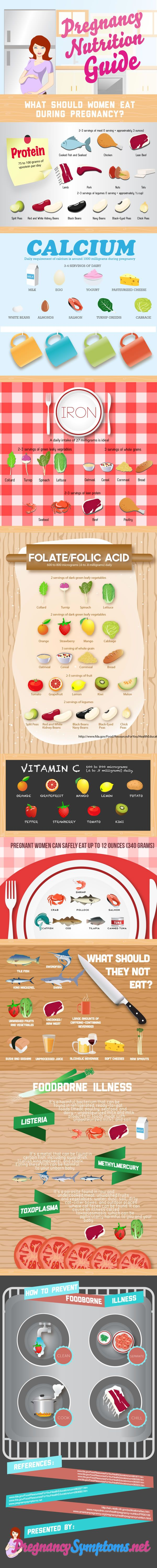 Pregnancy Nutrition Guide Infographic health