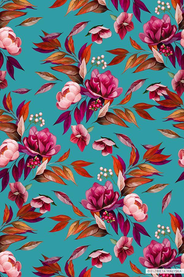 Floral Romantic Pattern Floral Pattern Wallpaper Print Design Pattern Flower Pattern Design Floral print wallpaper for walls