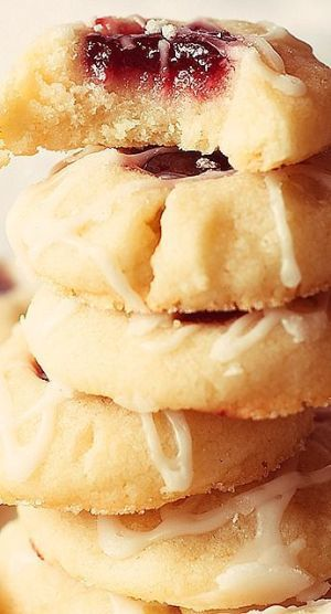 Raspberry almond shortbread cookies. my favorite recipe of the year.....