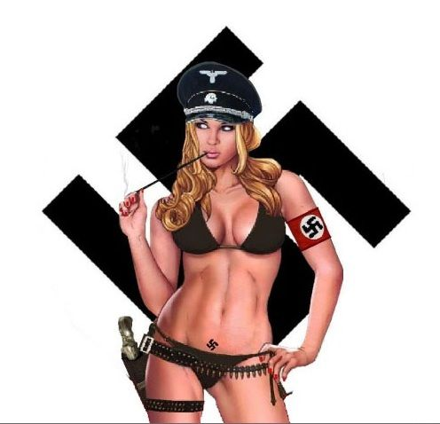 sexy nazi pin girls