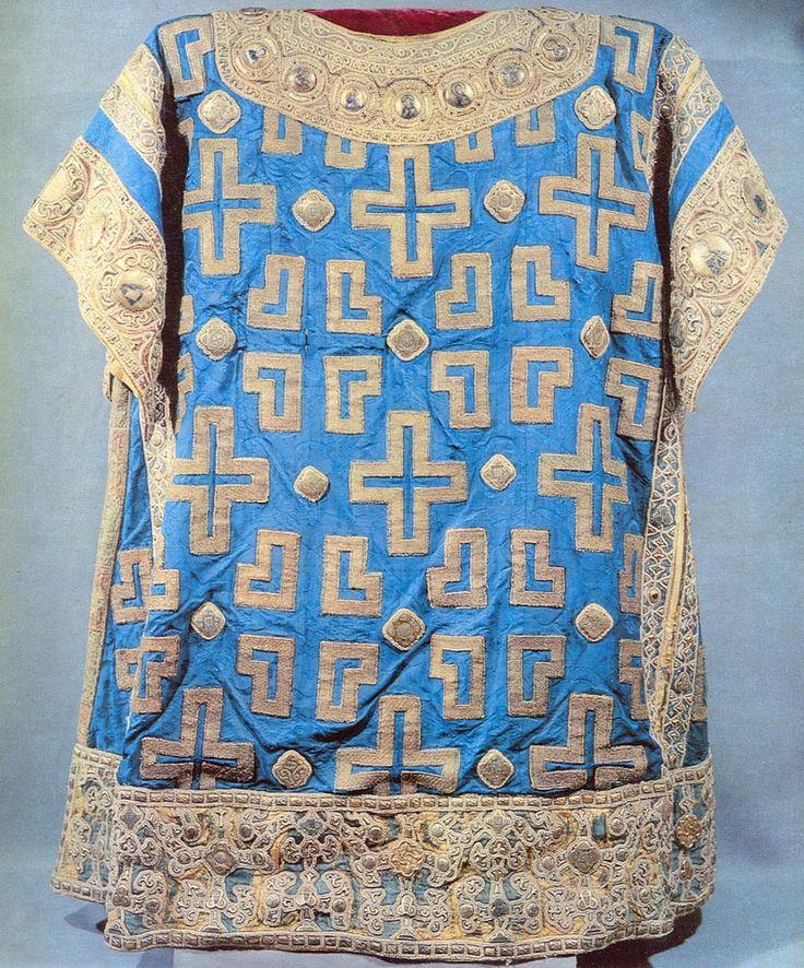 Sakkos of Metropolitan Alexei, 1364, Byzantine fabric